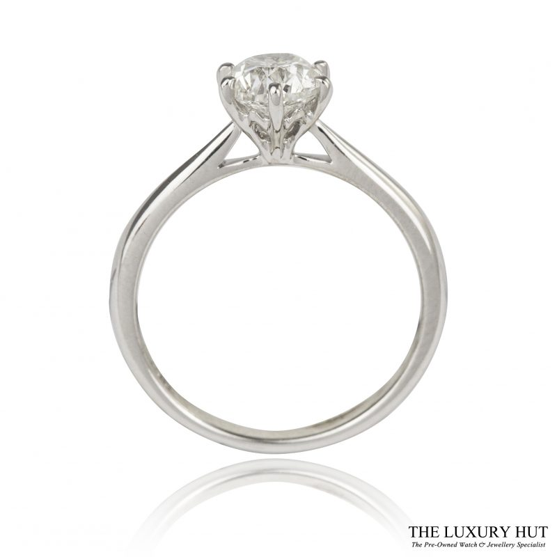 Shop 18ct White Gold 1.05ct Diamond Engagement Ring - Order Onlin