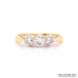 Shop Pre-owned Three Stone Diamond Ring - Order Online Today For Next Day Delivery