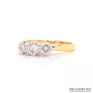 Shop Pre-owned Three Stone Diamond Ring - Order Online Today For Next Day
