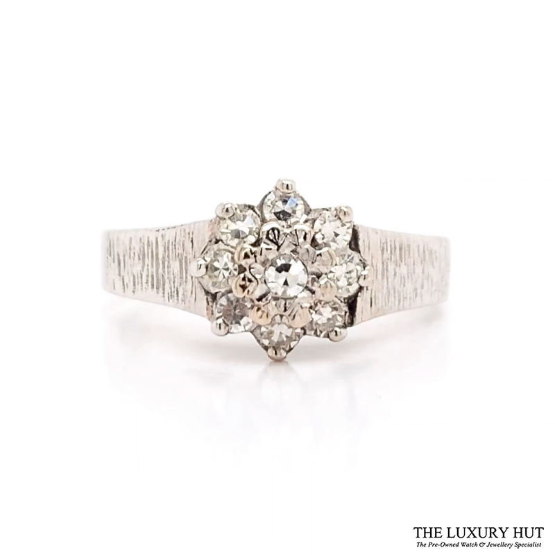 Shop 18ct White Gold Cluster Diamond Ring - Order Online Today for Next Day Delivery - Sell Your Diamond Jewellery to The Luxury Hut