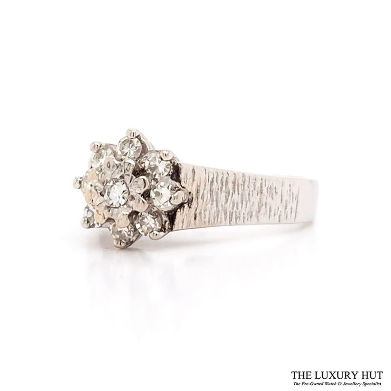 Shop 18ct White Gold Cluster Diamond Ring - Order Online Today for Next Day Delivery - Sell Your Diamond Jewellery
