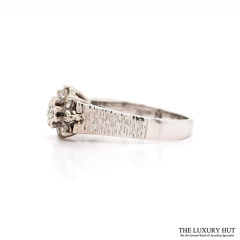 Shop 18ct White Gold Cluster Diamond Ring - Order Online Today for Next Day