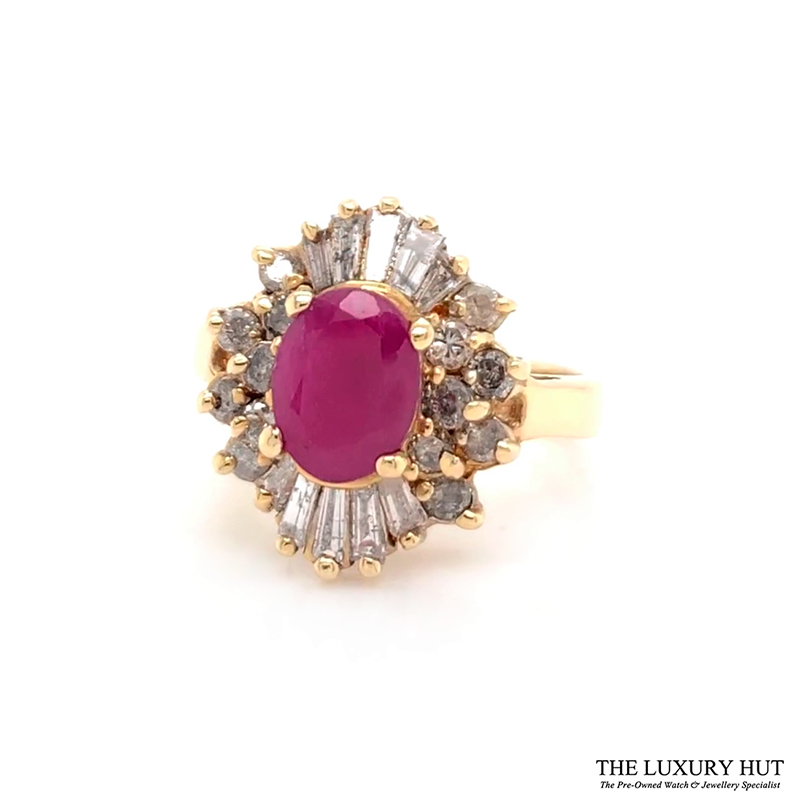 Shop 14CT Yellow Gold & Ruby Ring - Order Online Today for Next Day Delivery - Sell Your Diamond Jewellery