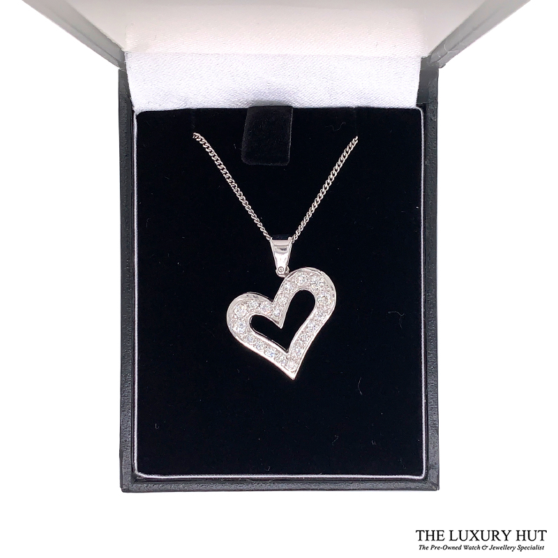 Shop 18CT White Gold Diamond Pendant - Order Online Today for Next Day Delivery