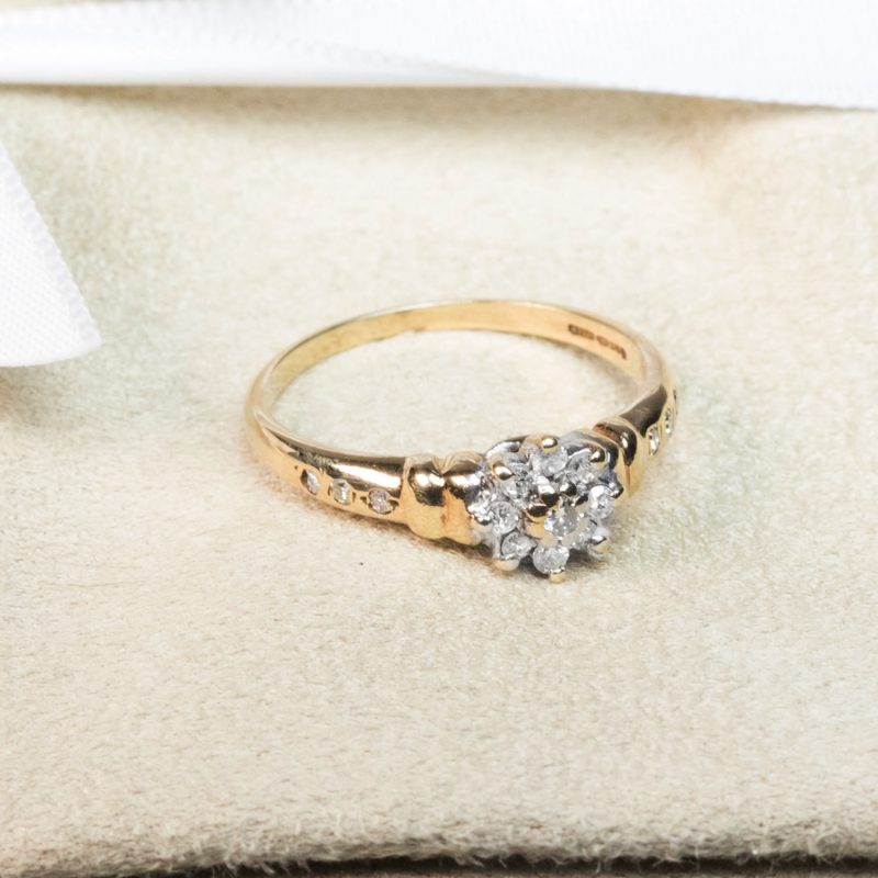 Shop 9ct Gold Cluster Diamond Ring - Order Online Today for Next Day Delivery