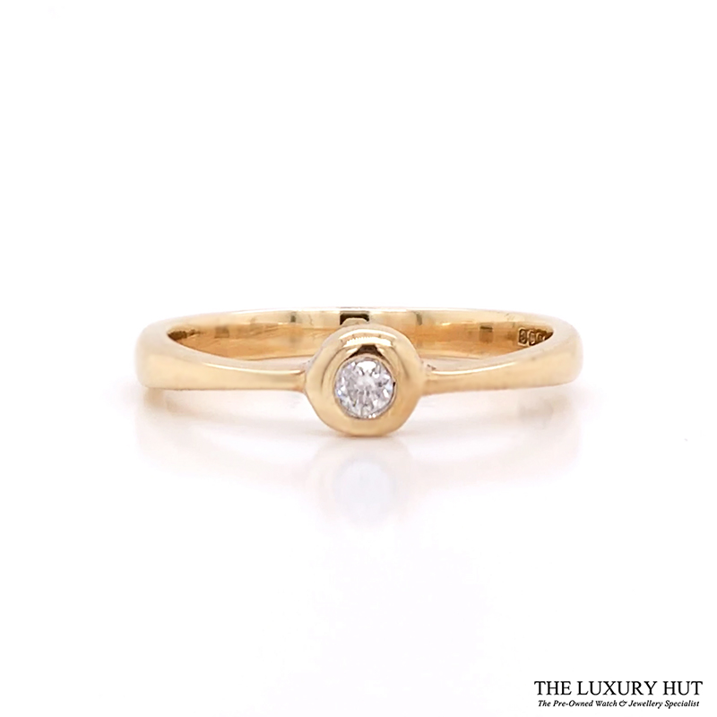 Shop 9ct Yellow Gold Solitaire Diamond Engagement Ring - Order Online Today For Next Day Delivery