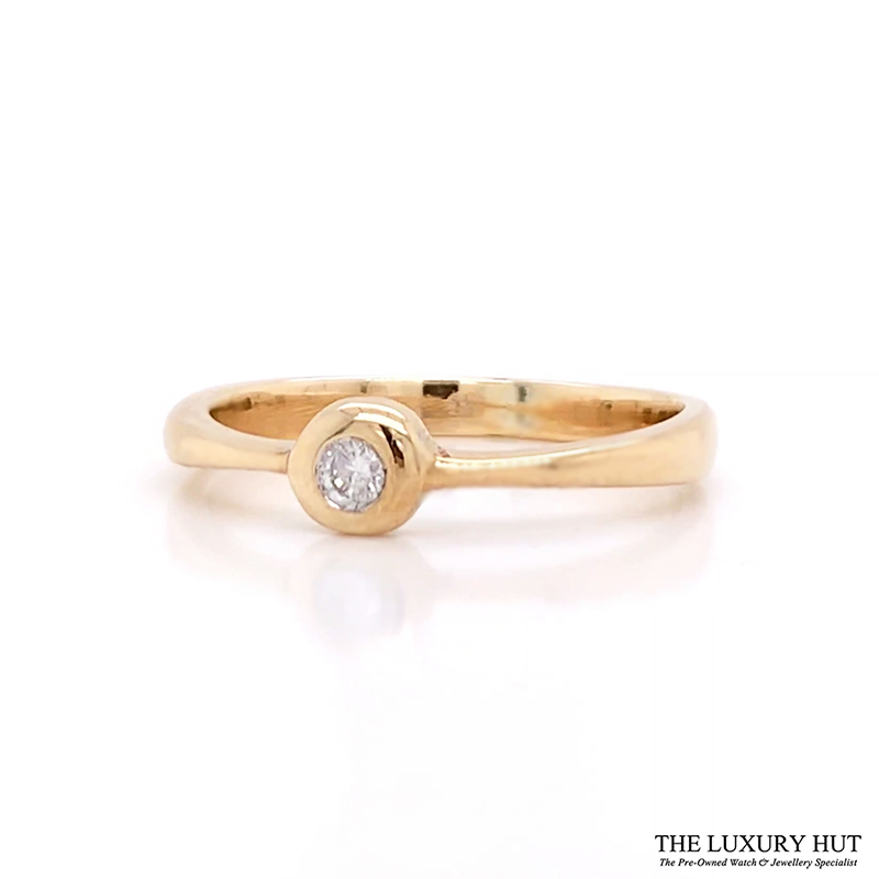 Shop 9ct Yellow Gold Solitaire Diamond Engagement Ring - Order Online Today For Next Day
