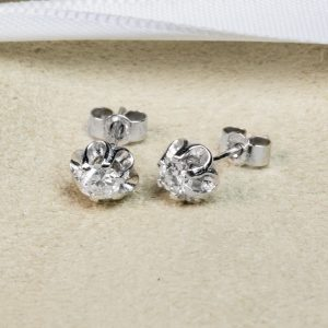 Shop 9CT White Gold Diamond Stud earring - Order Online Today for Next Day Delivery - Sell Your Diamond Jewellery to the Luxury Hut
