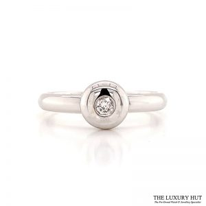 Shop 18ct White Gold .10ct Diamond Engagement Ring - Order Online Today For Next Day Delivery