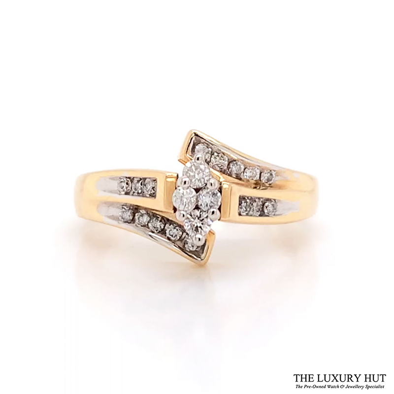 Shop 18CT Yellow & White Gold Diamond Ring - Order Online Today for Next Day Delivery - Sell Diamond Jewellery to The Luxury Hut, London