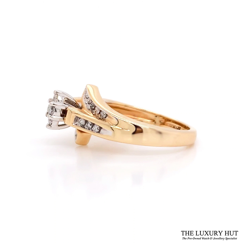 Shop 18CT Yellow & White Gold Diamond Ring - Order Online Today for Next Day