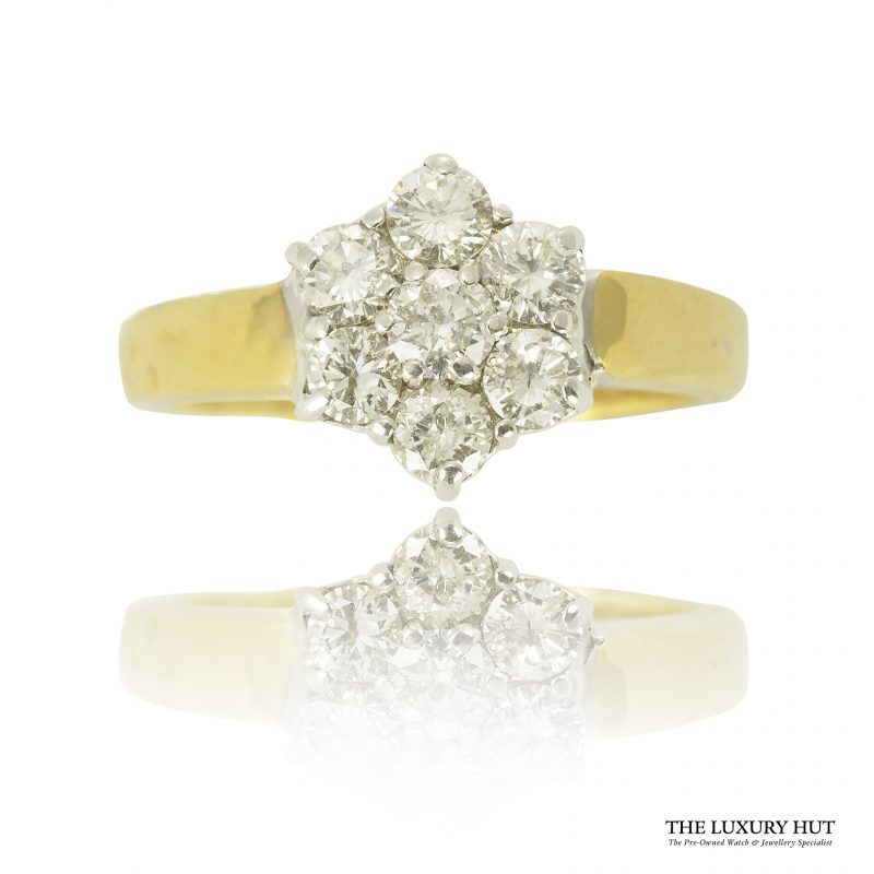 Shop Pre-Owned Cluster Diamond Rings - Order Online Today For Next Day Delivery - Sell Or Part Exchange Your Diamond Jewellery At The Luxury Hut London