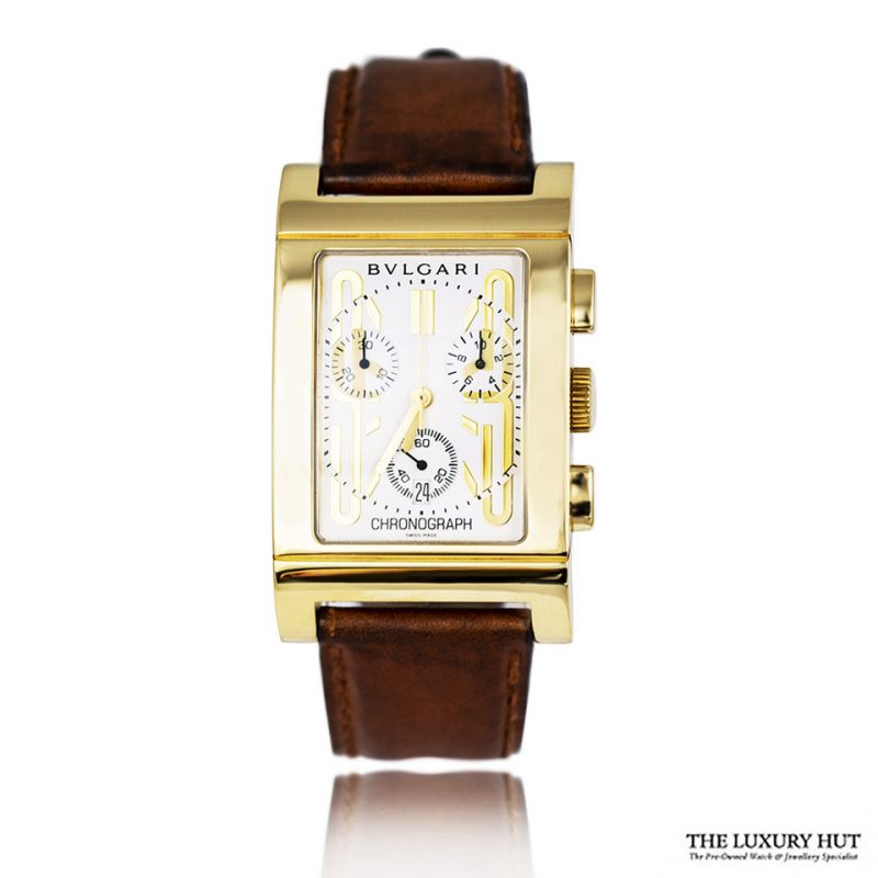Shop Bvlgari Rettangolo 18ct Gold Watch Order Online Today For Next Day Delivery - Sell Your Bvlgari Watch To The Luxury Hut London