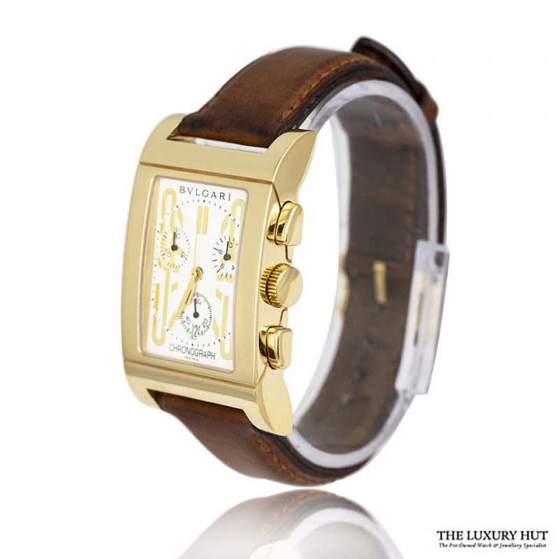 Shop Bvlgari Rettangolo 18ct Gold Watch Order Online Today For Next Day Delivery - Sell Your Bvlgari Watch To The Luxury Hut