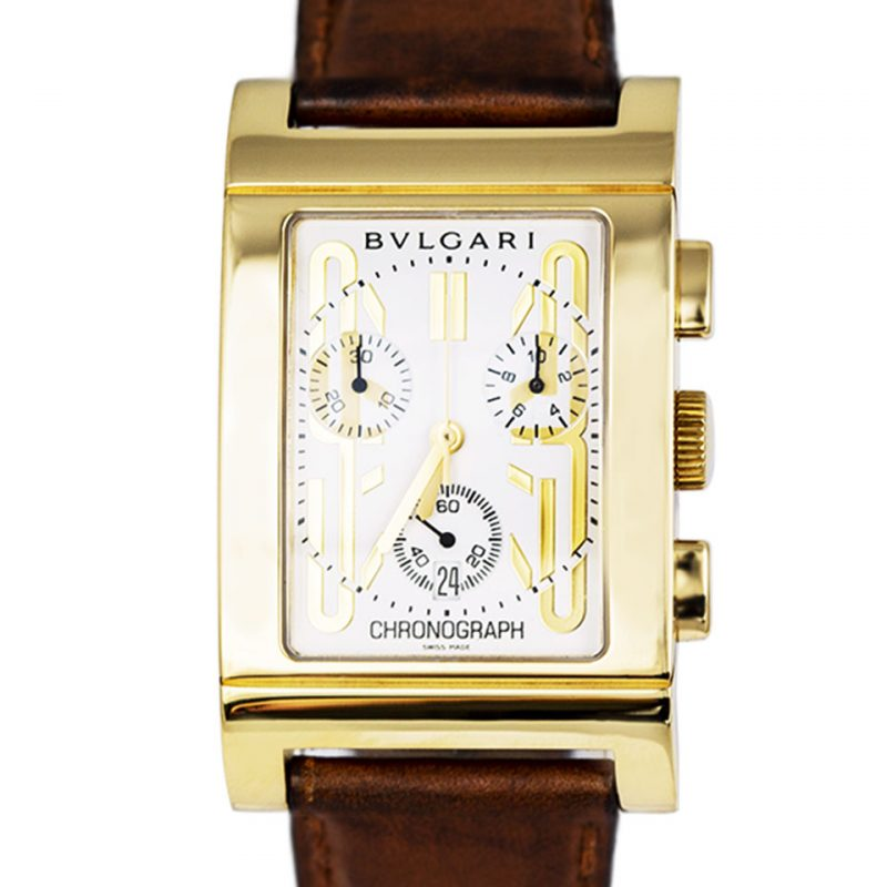 Shop Bvlgari Rettangolo 18ct Gold Watch Order Online Today For Next Day Delivery