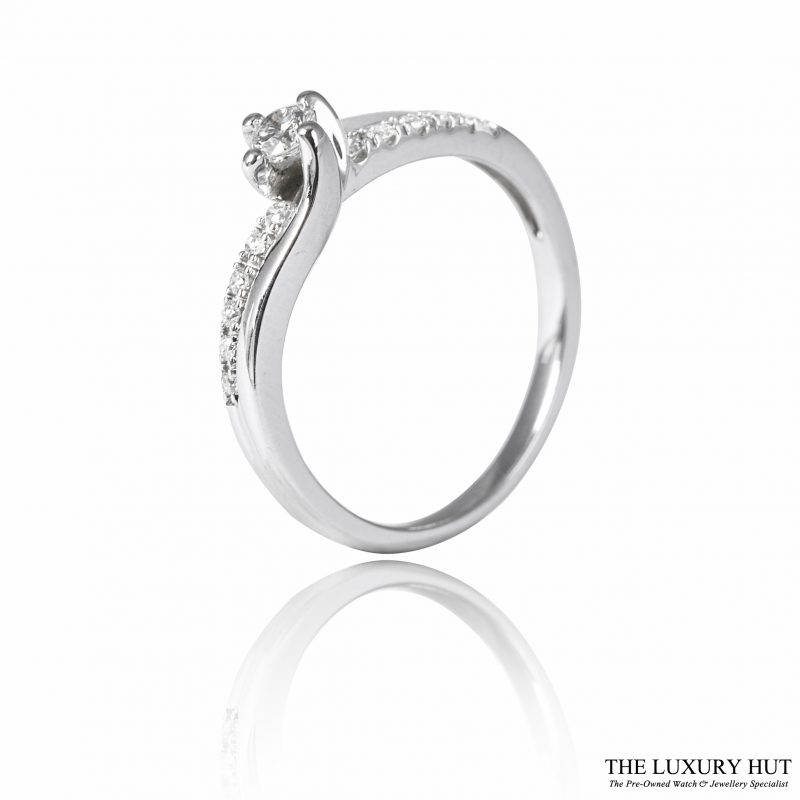 Shop 18ct White Gold & 0.25ct Diamond Engagement Ring - Order Online Today For Next Day