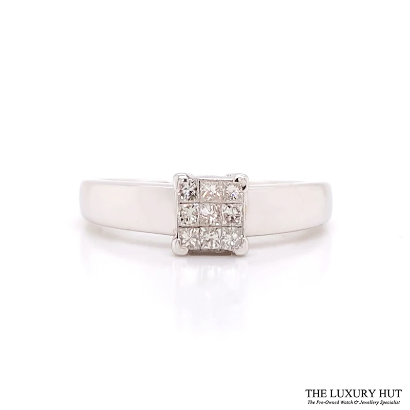 Shop 18CT White Gold Princess Cut Diamond Ring - Order Online Today for Next Day Delivery - Sell Diamond Jewellery to The Luxury Hut, Hatton Garden