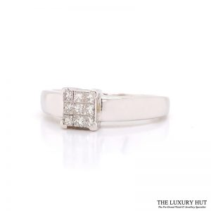 Shop 18CT White Gold Princess Cut Diamond Ring - Order Online Today for Next Day Delivery - Sell Diamond Jewellery to The Luxury Hut