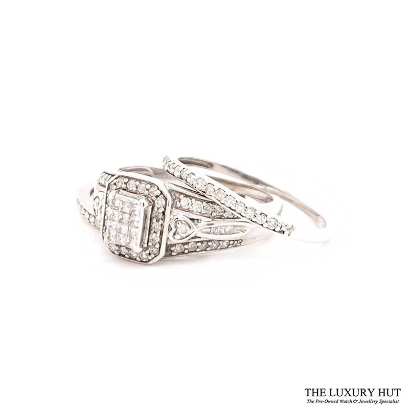 Shop Diamond Engagement & Eternity Ring Set - Order Online Today For Next Day