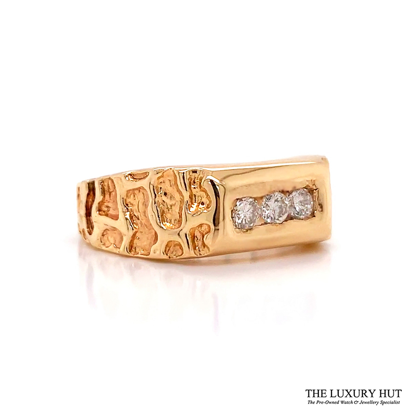 Shop Gents 14ct Gold Diamond Rings - Order Online Today Delivery