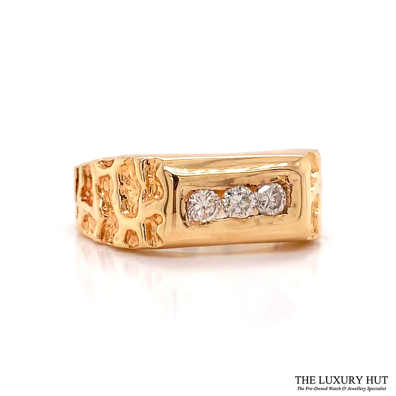 Shop Gents 14ct Gold Diamond Rings for Next Day Delivery