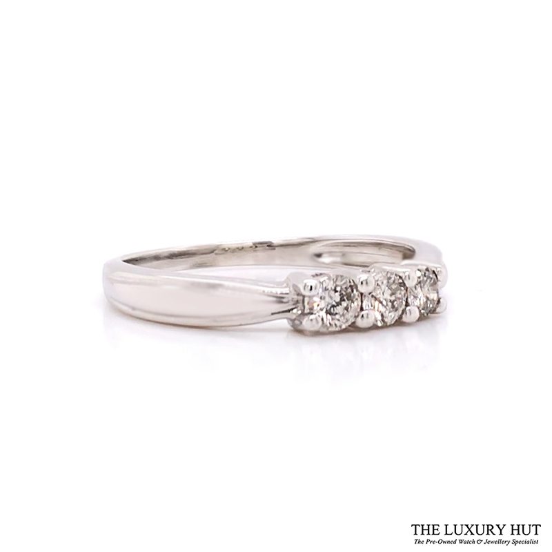 Shop 9CT White Gold Diamond Trilogy Rings - Order Online