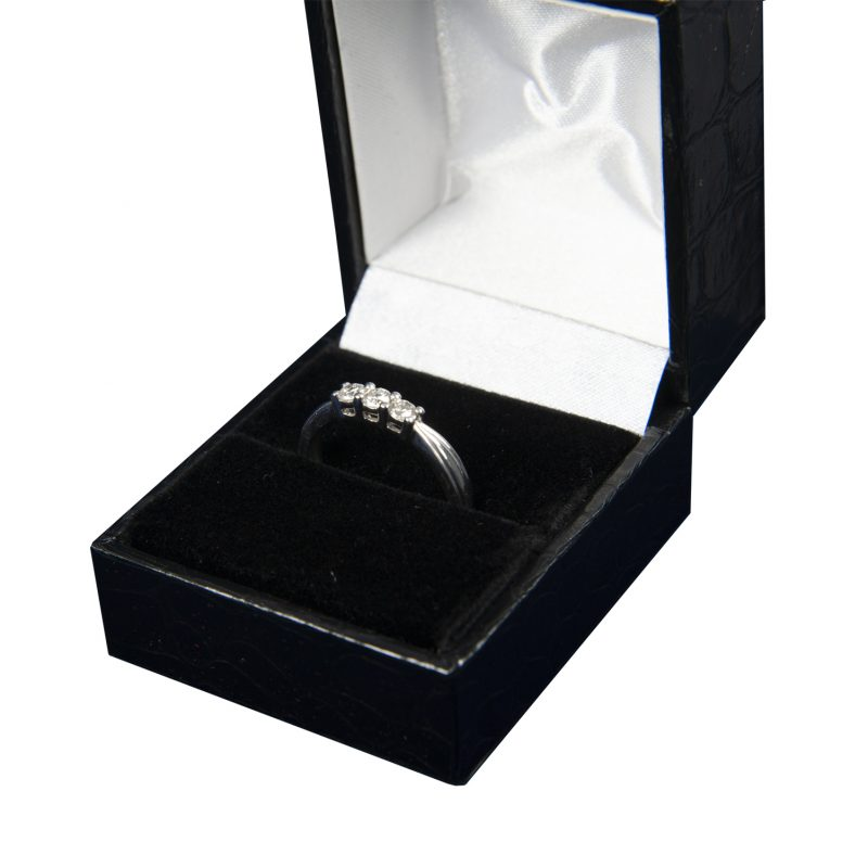 Shop 9CT White Gold Diamond Trilogy Rings - Order Online Today