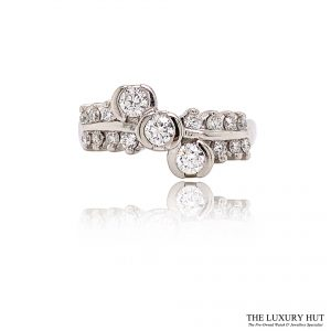 Shop 18ct White Gold 0.61ct Diamond Trilogy Cluster Ring - Order Online Today For Next Day Delivery