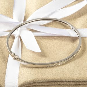 Shop 9CT White Gold .40CT Diamond Bangle - Order Online Today for Next Day Delivery - Sell Your Diamond Jewellery to Us at The Luxury Hut London
