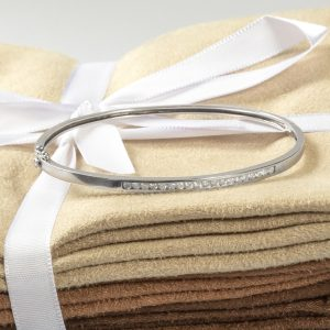 Shop 9CT White Gold .40CT Diamond Bangle - Order Online Today for Next Day Delivery - Sell Your Diamond Jewellery to Us