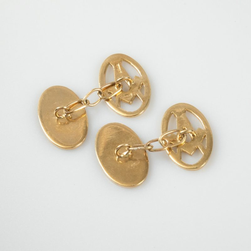 Shop 9ct Yellow Gold Masonic Cufflinks - Order Online Today For Next Day Delivery