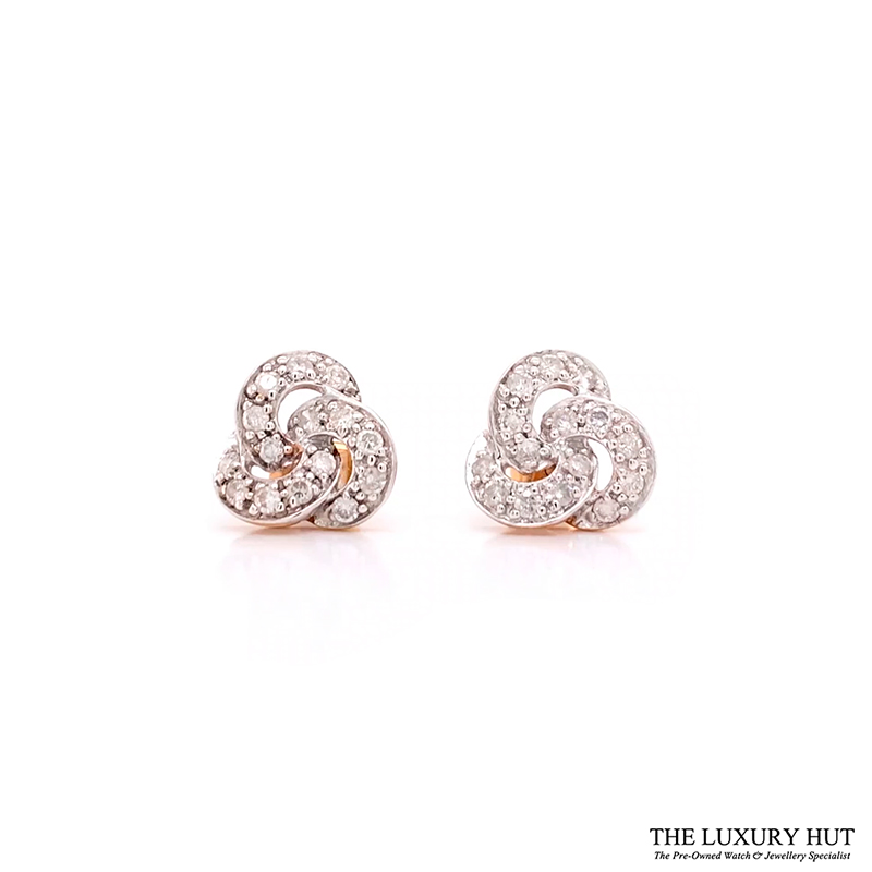 9CT GOLD 0.60CT DIAMOND CLUSTER EARRINGS - Order Online Today For Next Day Delivery - Sell Your Diamond Jewellery To The Luxury Hut Hatton Garden