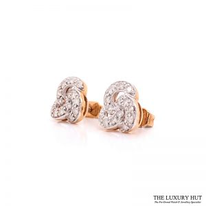 9CT GOLD 0.60CT DIAMOND CLUSTER EARRINGS - Order Online Today For Next Day Delivery - Sell Your Diamond Jewellery To The Luxury Hut