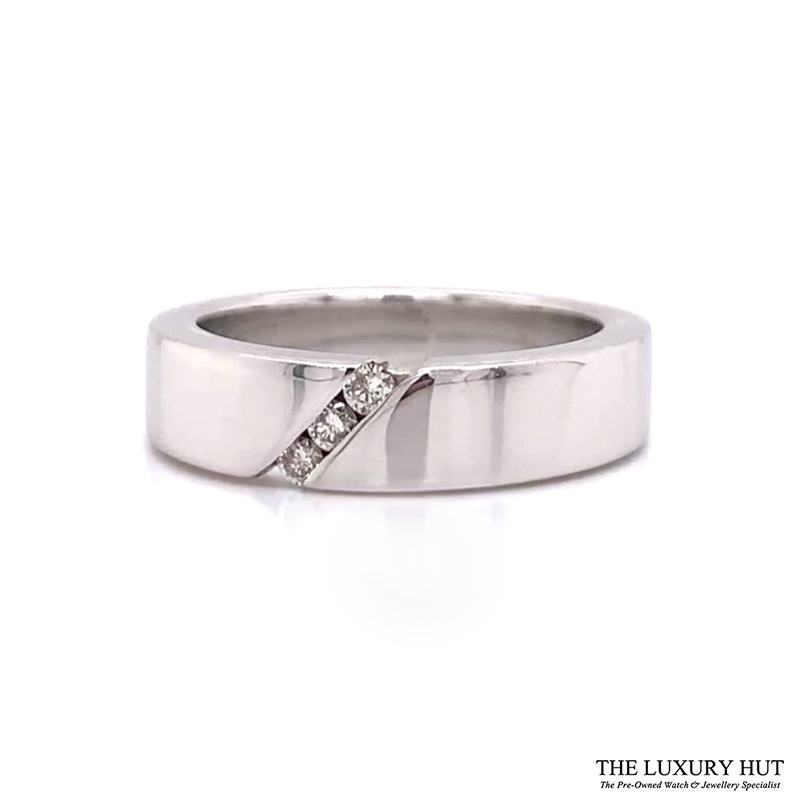 Shop 9CT White Gold Diamond Wedding Ring - Order Online Today for Next Day Delivery – Sell Your Diamond Jewellery to The Luxury Hut