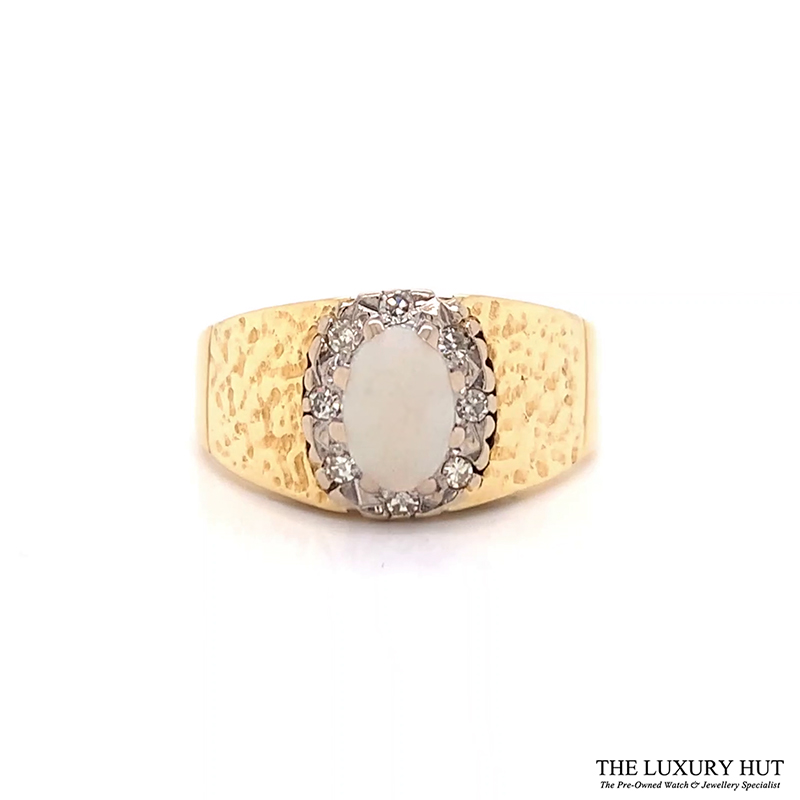 Shop 18ct Gold Opal Diamond Ring - Order Online Today for Next Day Delivery - Sell Your Old Jewellery to Us at The Luxury Hut London