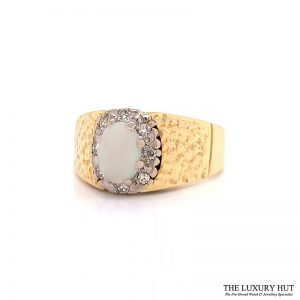 Shop 18ct Gold Opal Diamond Ring - Order Online Today for Next Day Delivery - Sell Your Old Jewellery to Us at The Luxury Hut