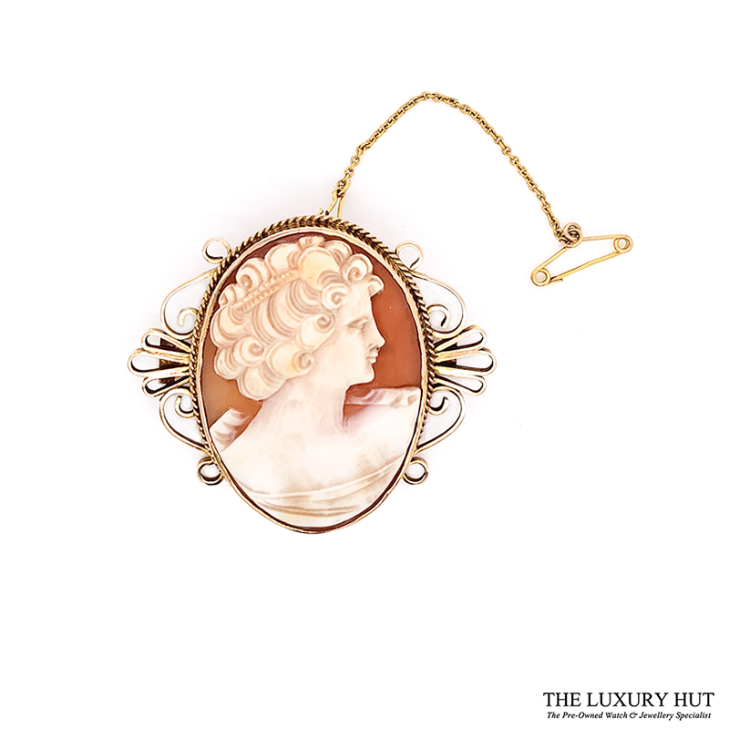 Shop 9CT Yellow Gold Vintage Cameo - Order Online Today for Next Day Delivery - Sell Your Old Vintage Jewellery to Us