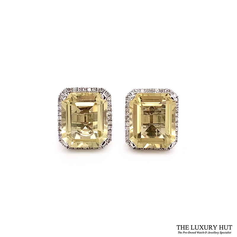 Shop Yellow Quartz And Diamond Earrings Jewellery - Order Online Today For Next Day Delivery