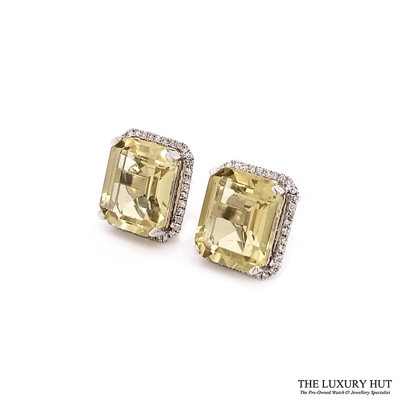 Shop Yellow Quartz And Diamond Earrings Jewellery - Order Online Today For Next Day