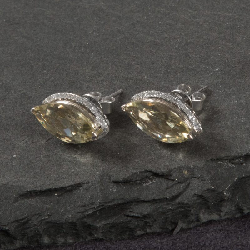 Shop 9CT White Gold Diamond Earrings - Order Online Today for Next Day Delivery