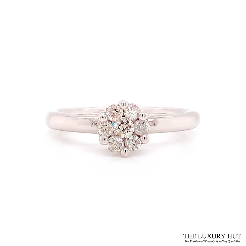 Shop 9CT White Gold Diamond Engagement Ring - Order Online Today for Next Day Delivery - Sell Your Old Engagement Ring to The Luxury Hut, Hatton Garden