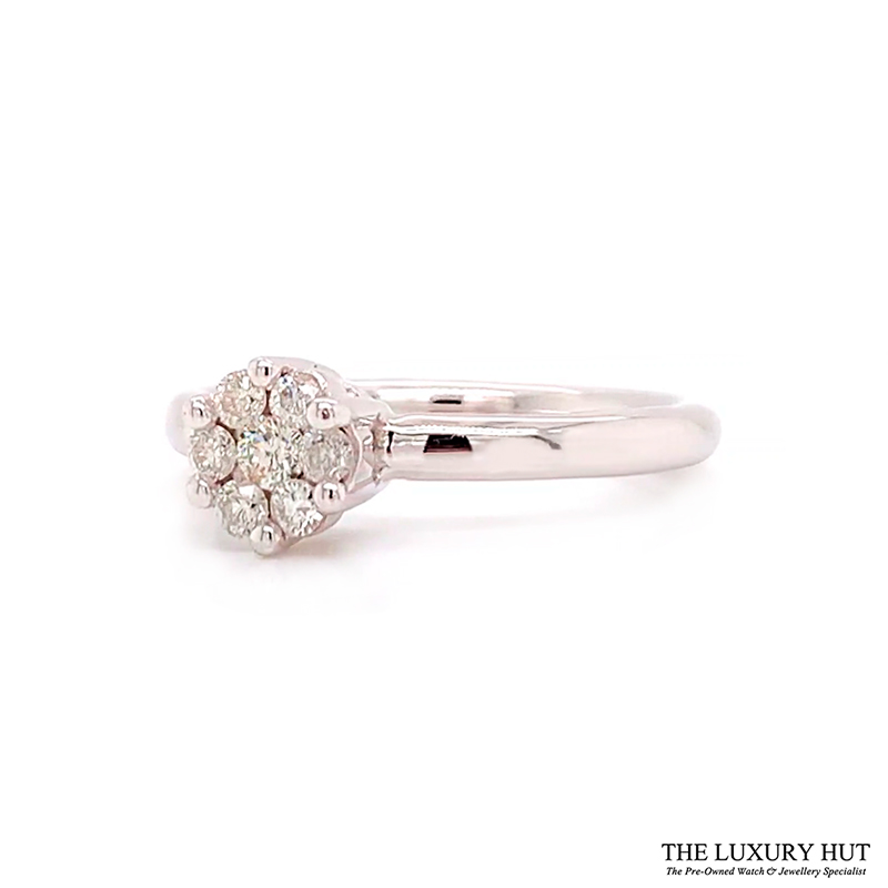 Shop 9CT White Gold Diamond Engagement Ring - Order Online Today for Next Day Delivery - Sell Your Old Engagement Ring to The Luxury Hut