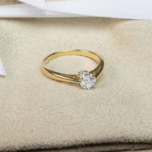Shop 18CT Yellow Gold Diamond Engagement Rings - Order Online Today for Next Day Delivery