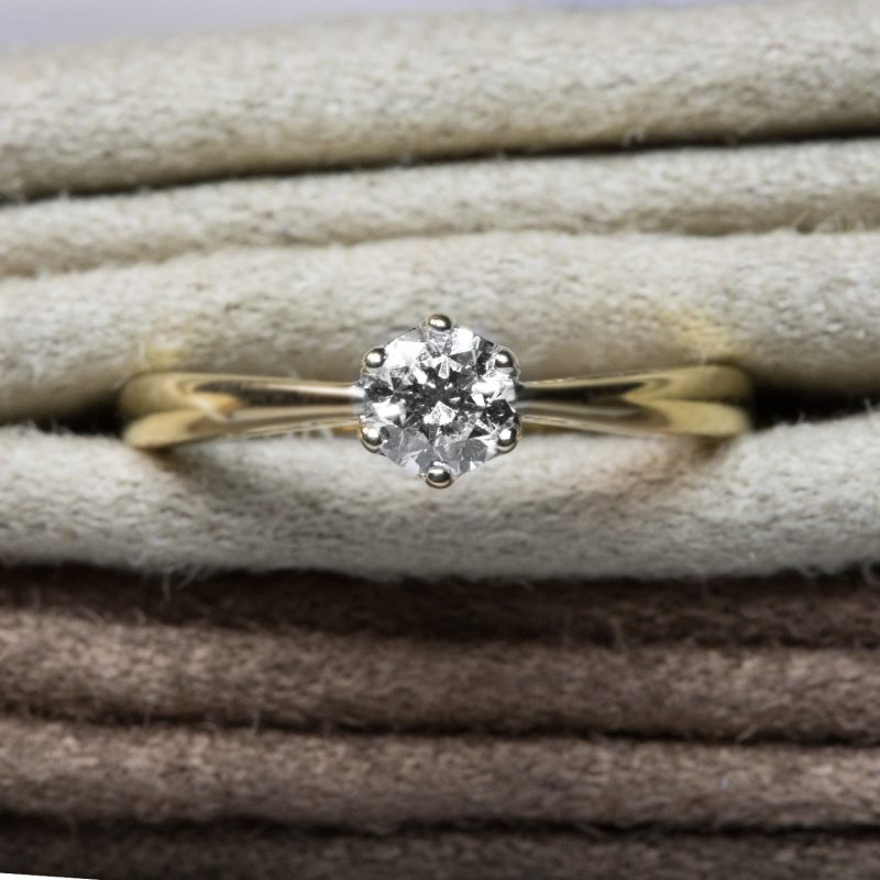 Shop 18CT Yellow Gold Diamond Engagement Rings - Order Online Today for Next Day