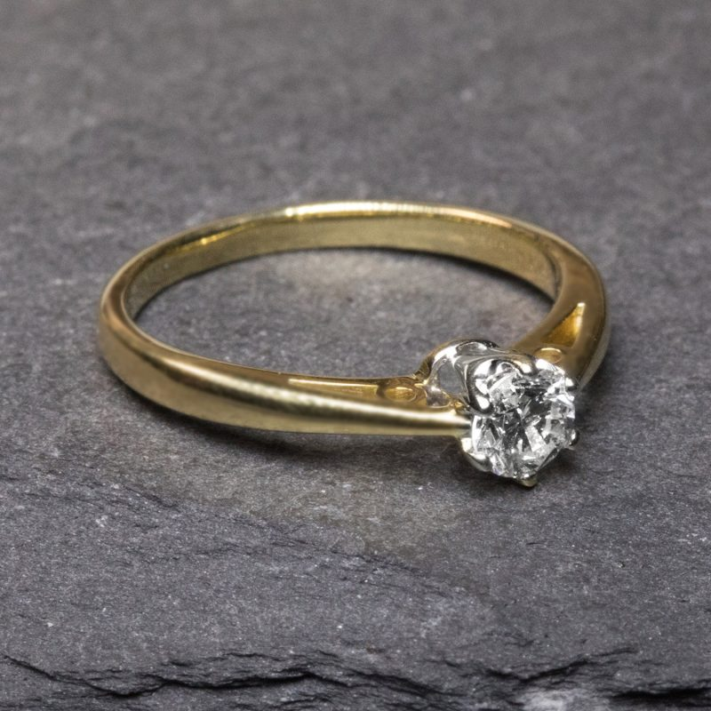 Shop 18CT Yellow Gold Diamond Engagement Rings - Order Online Today