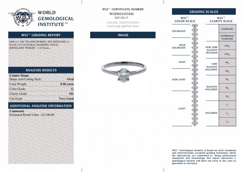 Shop Pre-Owned Platinum Diamond Rings - Order Online Today Delivery