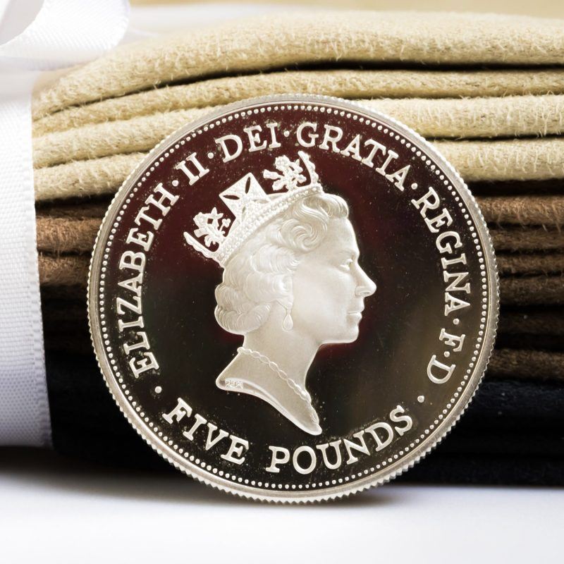 Shop Queen Elizabeth Silver £5 Coins - Order Online Today For Next Day Delivery