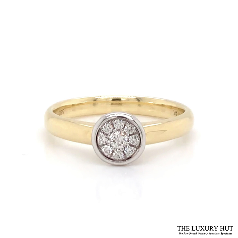 Shop 14CT Gold Diamond Cluster Ring - Order Online Today for Next Day Delivery - Sell Your Jewellery to the Luxury Hut London