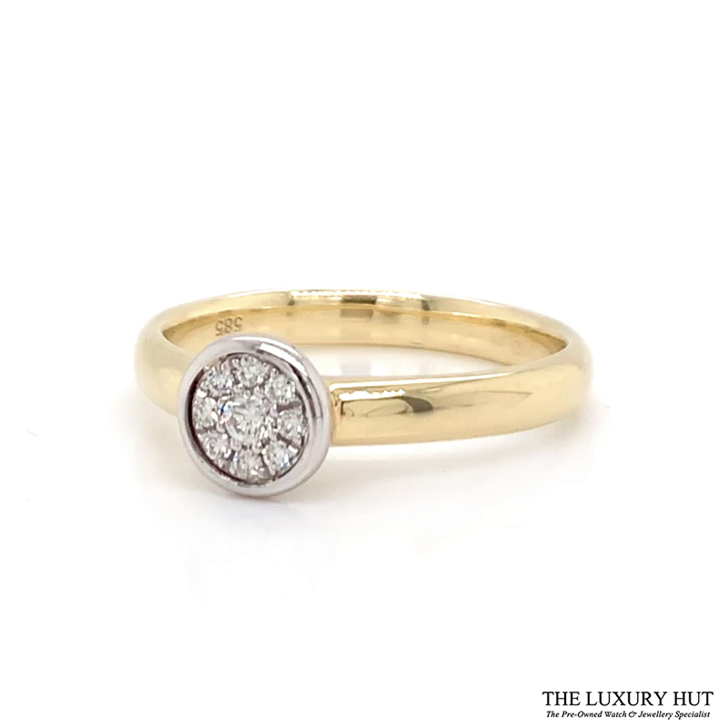 Shop 14CT Gold Diamond Cluster Ring - Order Online Today for Next Day Delivery - Sell Your Jewellery to the Luxury Hut