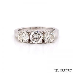 Shop Platinum 1.77ct Diamond Trilogy Ring - Order Online Today For Next Day Delivery